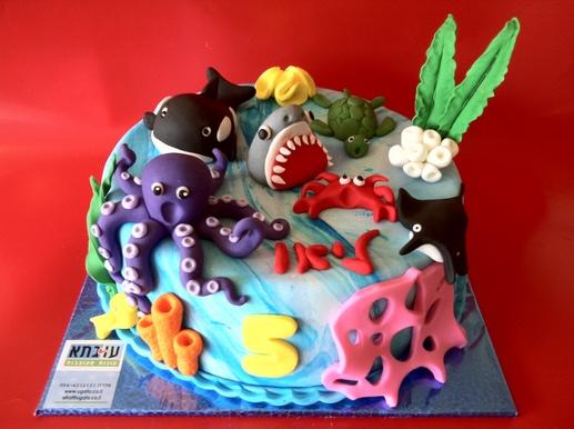 עוגת יצורי ים