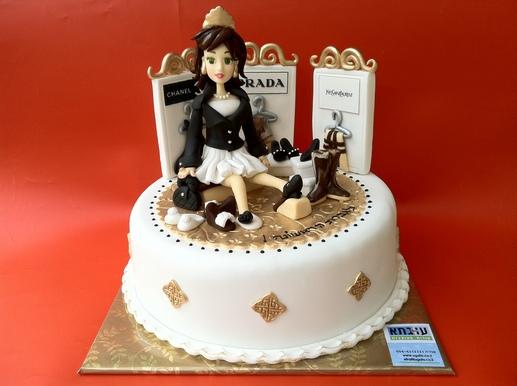 עוגה לגברת הראשונה הגנדרנית שמתה על נעלים!