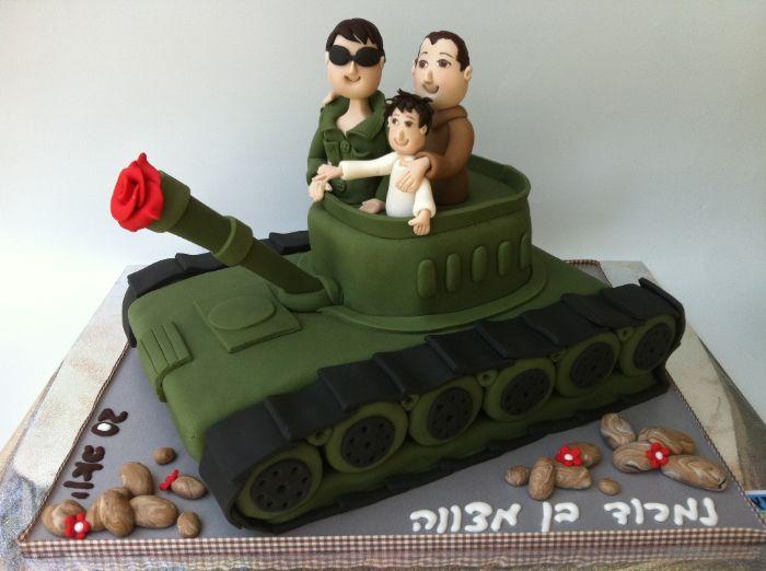 עוגת טנק לבר מצווה