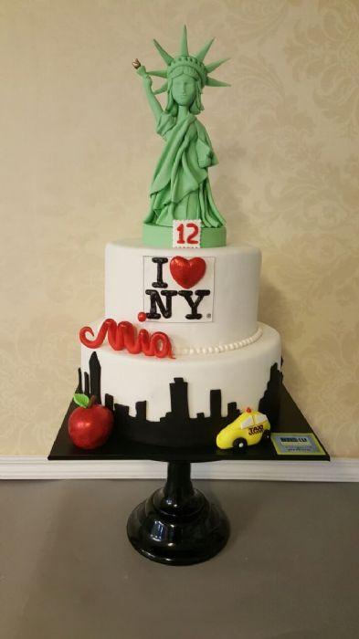 עוגת בת מצווה בקונספט ניו יורק