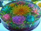 ג'לי עם צורות של פרחים בתלת מימד 3D