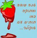שנה טובה שוקולד עם תותים