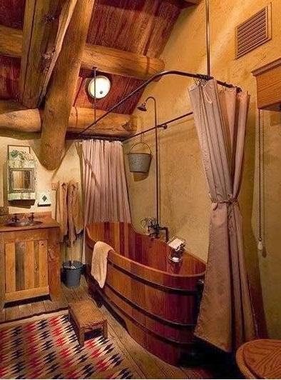 אמבטיית עץ
