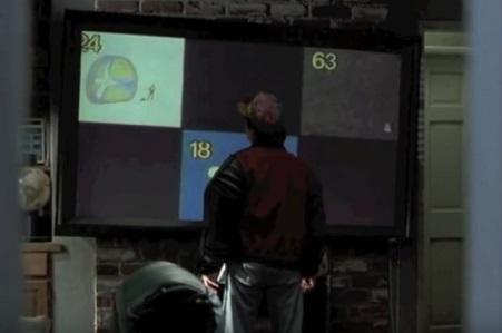 טלויזיה LCD בחזרה לעתיד
