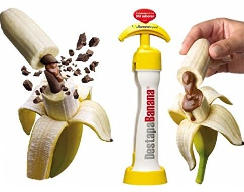 בננה עם שוקולד וקרמל