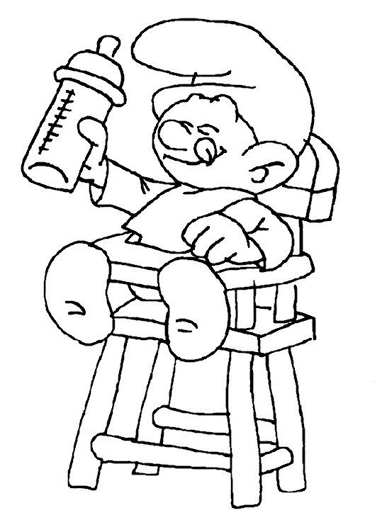 דף צביעה דרדס תינוק