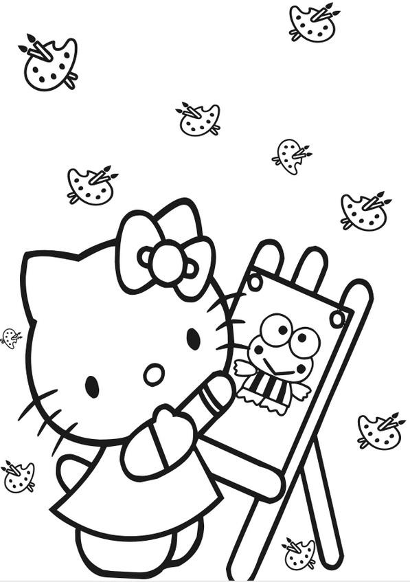 דף צביעה הלו קיטי