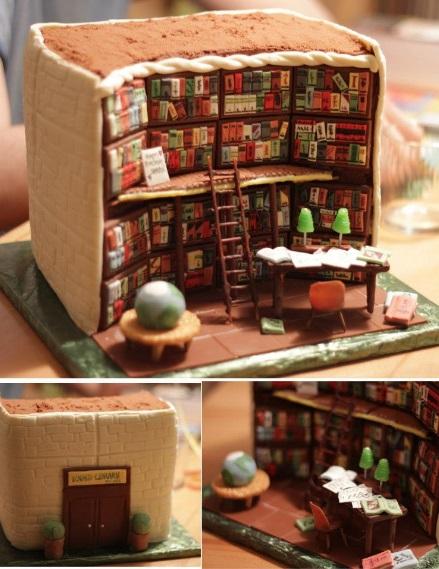 עוגת ספרייה