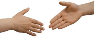 לחיצת ידיים לפיוס