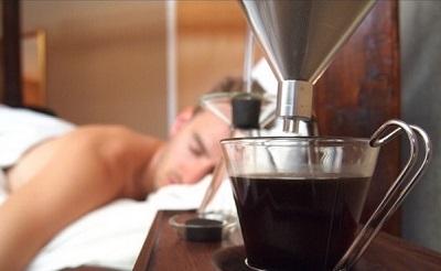 שעון מעורר עם קפה