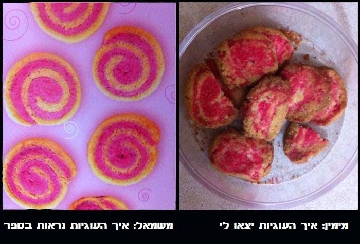 עוגיות ספירלה שלא הצליחו