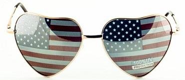 משקפי שמש דגל ארצות הברית
