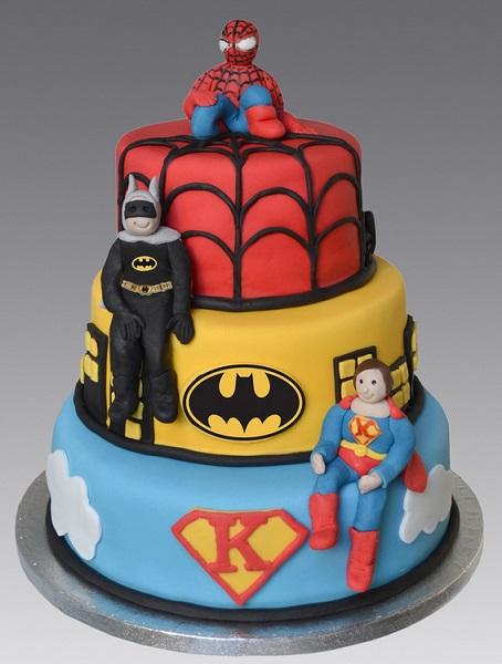 עוגת סופרמן, בטמן וספיידרמן