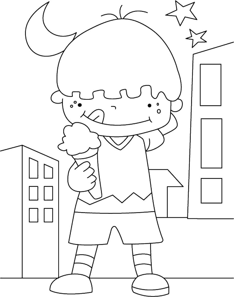 ילד מלקק גלידה