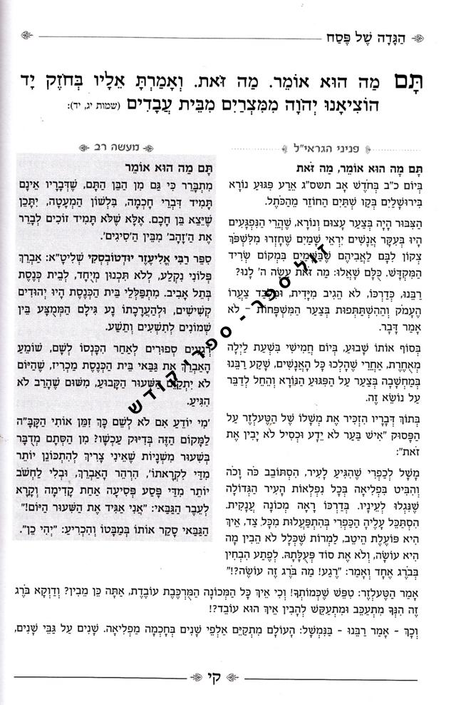 הגדה של פסח הרב שטיינמן, הגדה בצלו חמדתי
