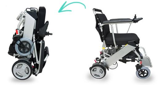 כיסא גלגלים ממונע מתקפל