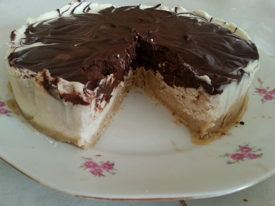 עוגת גבינא עם שוקולד
