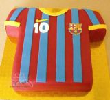 עוגת חולצת כדורגל של קבוצת ברצלונה
