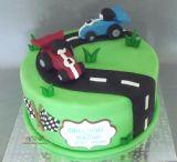 עוגת מרוץ מכוניות