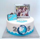 עוגת יום נישואין 25 לזוג שמתגורר באיטליה עם משפחה ברוכה.