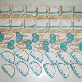 עוגיות מעוצבות: כיפה, ציצית ומספריים למסיבת חלאקה.