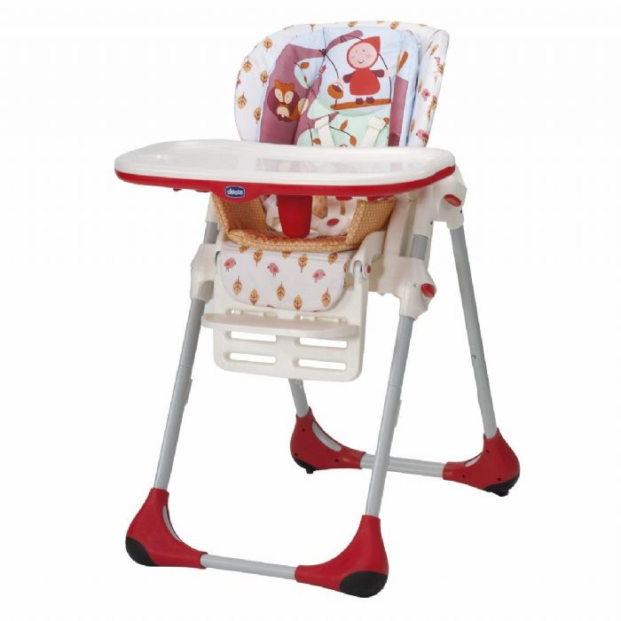 כסא אוכל פולי - Polly | בז' אדום Happy Land