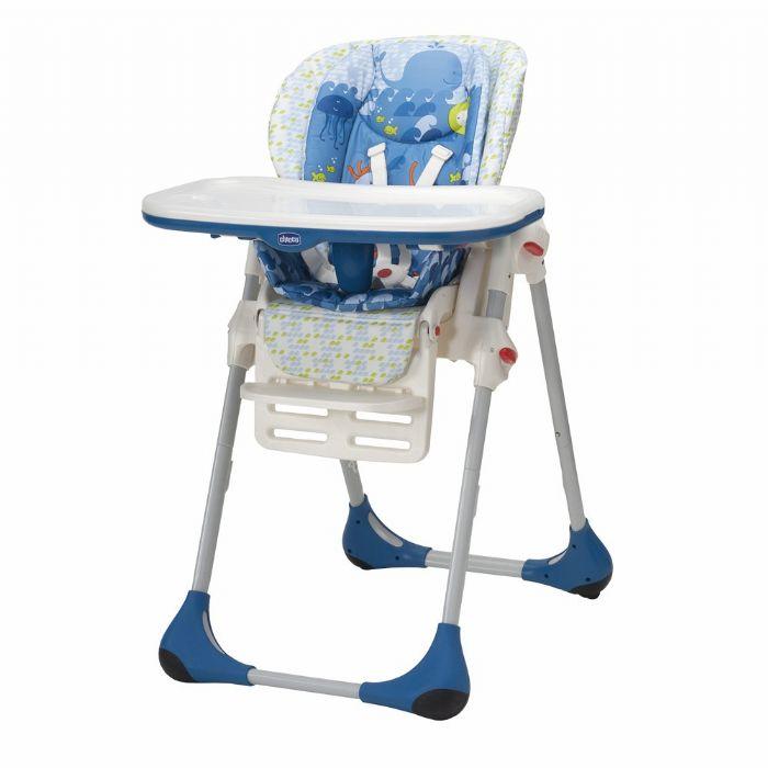 כסא אוכל פולי - Polly   כחול לבן Sea World