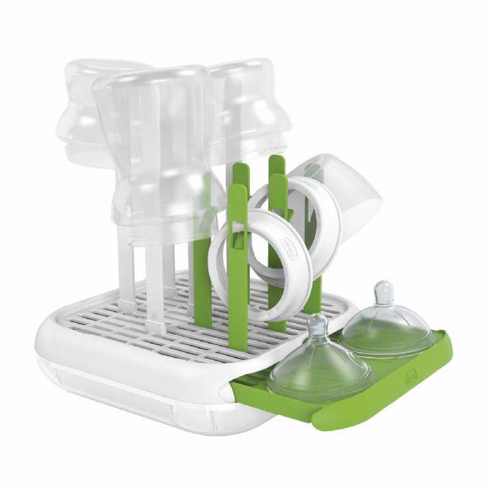 מייבש בקבוקים – Feeding Bottle Drainer | ירוק ולבן Green &White