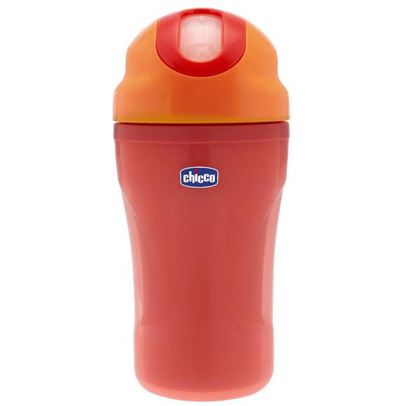 בקבוק אימון בעל פטמת סיליקון - Insulated Cup | אדום Red