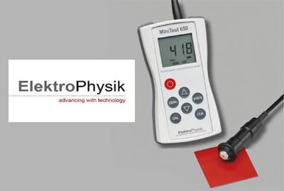 מד עובי ציפוי וצבע תוצרת ElektroPhysik ,MT650
