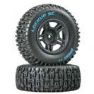 זוג צמיגי שטח Duratrax Lockup SC Tire C2 Mounted Black Rear Slash