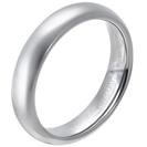 """טבעת טונגסטן לגבר מוחלקת, מוברקת ודקה 5 מ""""מ."""