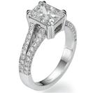 """טבעת אירוסין """"Hollywood"""" בעיצוב מאהובים על השטיח האדום, הטבעת משובצת ב 80 יהלומים במשקל של כ- 0.43 קרט בצבע F וניקיון SI1."""