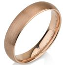 טבעת נישואין מטונגסטן ברוחב 5 ממ בגימור מט מצופה בזהב אדום 14 קראט.