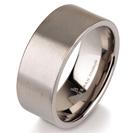 """טבעת לגבר מטיטניום ברוחב 9 מ""""מ בגימור מט."""