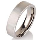 """טבעת לגבר מטיטניום ברוחב 6 מ""""מ בגימור מט."""