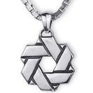 """שרשרת מגן דוד לגבר """"Infinty David Shield"""" עשויה כסף 925 בעבודת יד."""