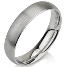 Tungsten wedding bands - delicate brushed tungsten ring - 5mm