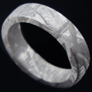 Flat Meteorite Ring - Meteorite Ring - Natural Meteorite Ring - Meteorite Band - Meteorite Ring - Gibeon Meteorite - Braverman Jewelry