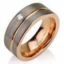 Black Gunmetal Tungsten Ring Rose Gold Wedding Band Diamond Ring Tungsten 9mm Tungsten Ring Man Wedding Band Male Women Stripe