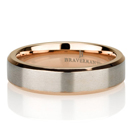 Rose Gold Beveled Pure Titanium Wedding Band, Brushed Rose Gold Titanium Wedding Ring, Rose Gold Plated Titanium Band 5mm