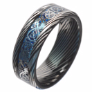 Mokume-Gane - forged ring - Damascus Inlay - mokume band - damascus - Damascus ring - Three color Mokume - mokume bands - mokume gane