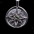 Meteorite Necklace - Meteorite Jewelry - Hand Crafted Gibeon Meteorite - Silver Pendant 'Galaxy Compass'