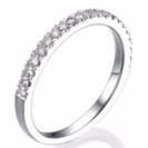 14k White Gold Half Eternity Band - 14k White Gold Half Eternity Ring - Diamond Wedding Band - Diamond Wedding Ring - Anniversary Band