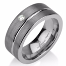 Black Gunmetal Tungsten Ring Wedding Band Diamond Ring Tungsten 9mm Tungsten Ring Man Wedding Band Male Women Stripe