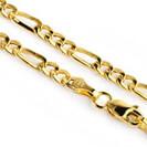 """שרשרת זהב לגברים בעובי 3.5 מ""""מ ובאורך 60 ס""""מ העשויה זהב 14K"""