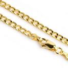 """שרשרת גורמט עבה לגבר העשויה זהב 14K צהוב באורך 60 ס""""מ"""