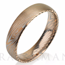 Rose Gold Brushed Mokume Gane Tungsten - Forged Ring- Mokume Band - Damascus Ring- Two Color Mokume- Mokume Wedding Bands - Mokumegane