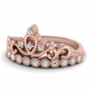 Majestic Crown, 14k Rose Gold with delicate milgrain.