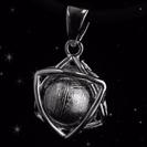 Meteorite Necklace - Meteorite Jewelry - Hexagram - Hexagram Pendant - Hand Crafted Meteorite - Sterling Silver Pendant 'Braveheart'